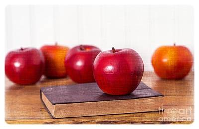 Classroom Photograph - Back To School Apples by Edward Fielding