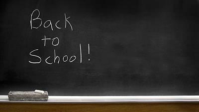 Back To School Chalkboard Art Print by Lane Erickson