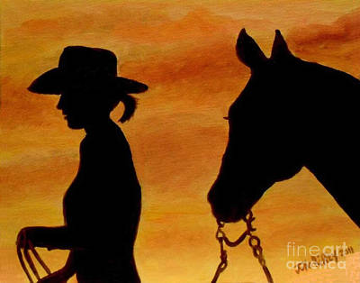 Art Print featuring the painting Back To The Barn by Julie Brugh Riffey