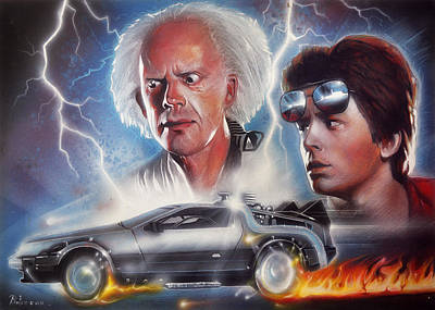 Marty Painting - Back To The Future by Anton Atanasov Art