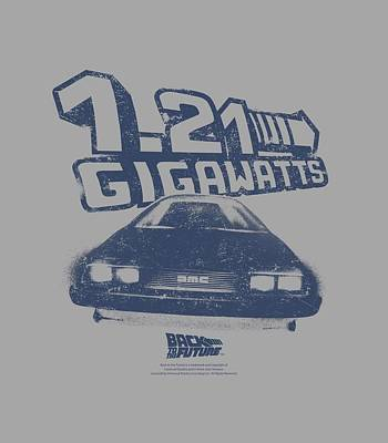 Fox Digital Art - Back To The Future - Gigawatts by Brand A