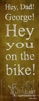 Back To The Future. Hey Dad George Hey You On The Bike Art Print