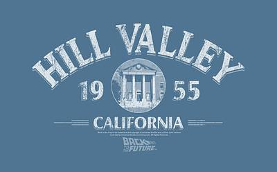 The Fox Digital Art - Back To The Future - Hill Valley 1955 by Brand A