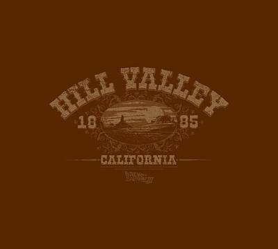Fox Digital Art - Back To The Future IIi - Hill Valley 1855 by Brand A