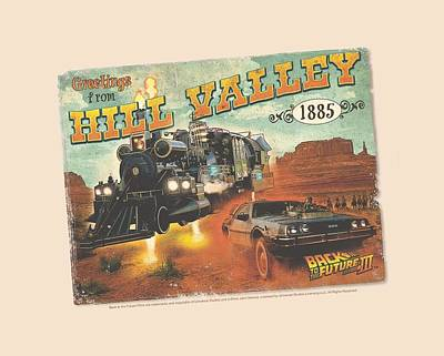 Fox Digital Art - Back To The Future IIi - Hill Valley Postcard by Brand A