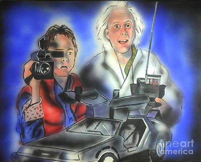 Marty Painting - Back To The Future by Jacob Logan