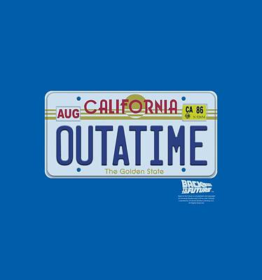 Fox Digital Art - Back To The Future - Outatime Plate by Brand A