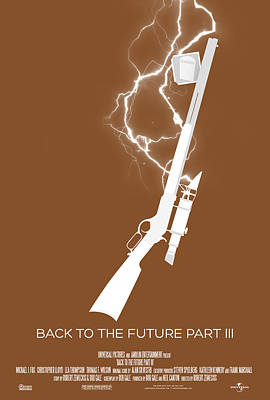 The Hills Digital Art - Back To The Future Part 3 Custom Poster by Jeff Bell