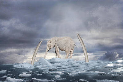 Art Print featuring the digital art Back To The Ice Age by Angel Jesus De la Fuente