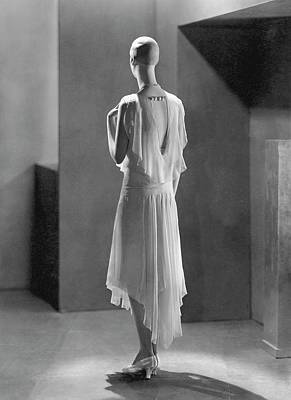 Chiffon Photograph - Back View Of A Mannequin Designed By Siegel by George Hoyningen-Huene