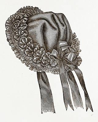 Back View Of Babys Bonnet Art Print