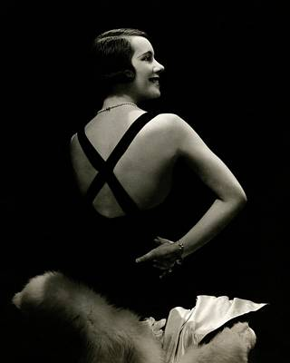Back View Portrait Of Lily Pons Art Print by Edward Steichen