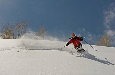 Big Cottonwood Canyon Photograph - Backcountry Powder Skiing by Howie Garber