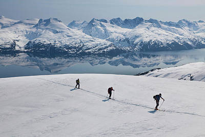 Backcountry Skiing In Prince William Art Print
