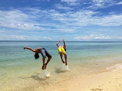 Backflip Photograph - Backflipping On The Beach by Dickson Shia