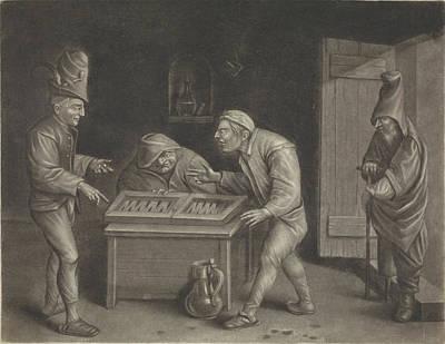 Backgammon Players Art Print