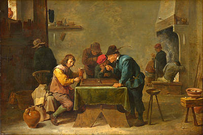 Backgammon Painting - Backgammon Players by David Teniers the Younger