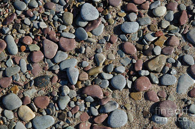 Photograph - Background Of Wet Pebbles And Sand by Kennerth and Birgitta Kullman