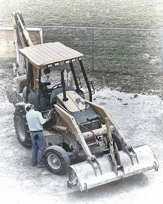 Photograph - Backhoe  by Rudy Umans