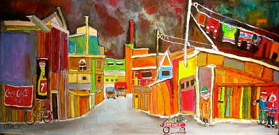 Litvack Painting - Backlanes Of The 1950's by Michael Litvack