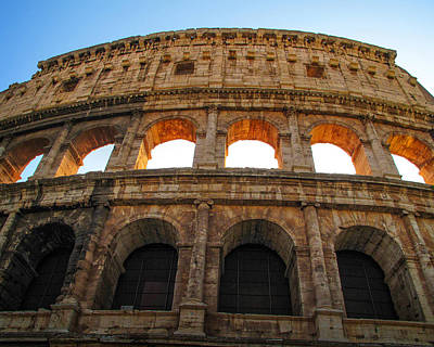 Art Print featuring the photograph Backlit  Colosseum by Joe Winkler