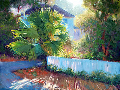 Palmetto Tree Painting - Backlit Palmetto by Armand Cabrera