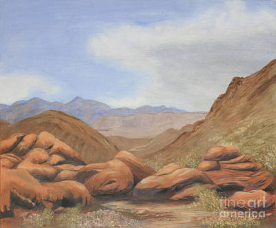 Desert View Painting - Backroad To Moapa by Jayne Schelden