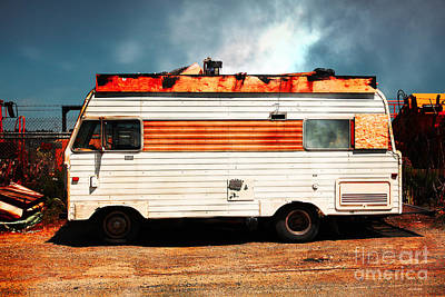 Backroads Americana Abandoned Recreational Vehicle Rv 5d22705 Print by Wingsdomain Art and Photography