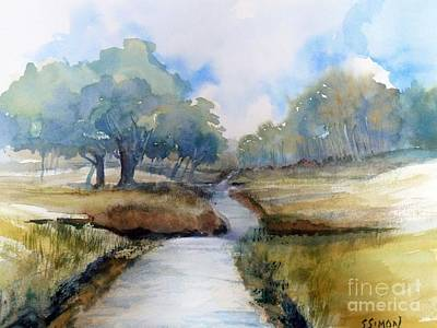 Art Print featuring the painting Backroads Of Georgia by Sally Simon