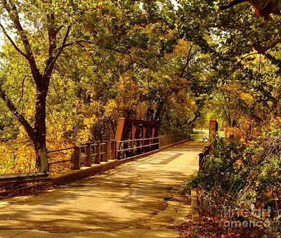 Autum Photograph - Backroads River Bridge by Robert Frederick
