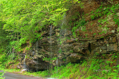 Photograph - Backroads Waterfall In West Virginia by Paulette B Wright