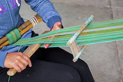 Loom Photograph - Backstrap Loom Weaving by Jim West