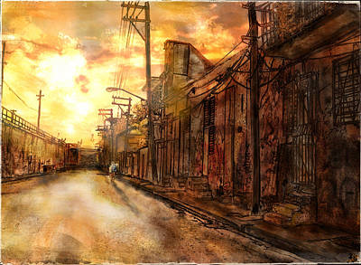Ingo Art Wall Art - Painting - Backstreet Dust by Ingo  Ulrich