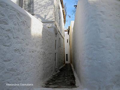 Hydra Island Photograph - Backstreet In Hydra by Alexandros Daskalakis