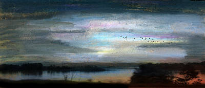 Backwater Overflight Art Print
