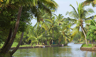 Canoe Photograph - Backwaters Of Kerala, India by Keren Su