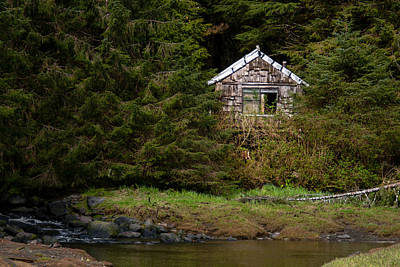 Photograph - Backwoods Shack by Melinda Ledsome