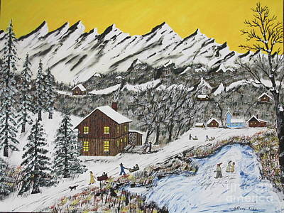 Backwoods Winter  Art Print