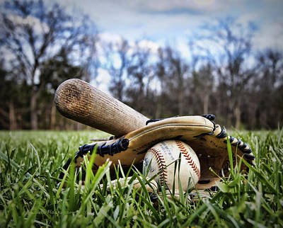 Baseball Royalty-Free and Rights-Managed Images - Backyard Baseball Memories by Cricket Hackmann