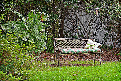 Photograph - Backyard Bench by Linda Brown