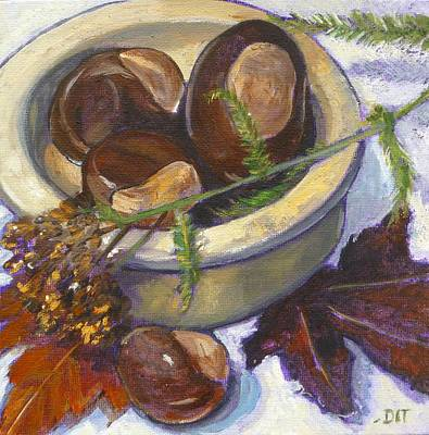 Painting - Backyard Buckeyes by Denise Ivey Telep