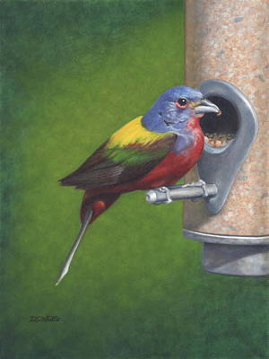 Painting - Backyard Bunting by Dee Dee  Whittle