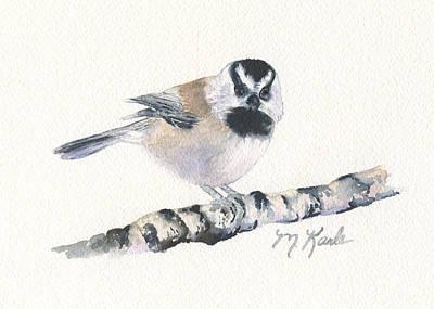 Backyard Busybody - Mountain Chickadee Art Print