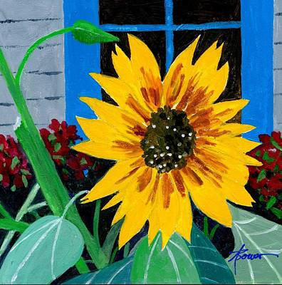 Painting - Backyard Flowers  by Adele Bower