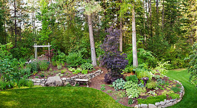 Loon Photograph - Backyard Garden In Loon Lake, Spokane by Panoramic Images