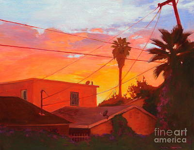 Painting - backyard in East LA by Andrew Danielsen