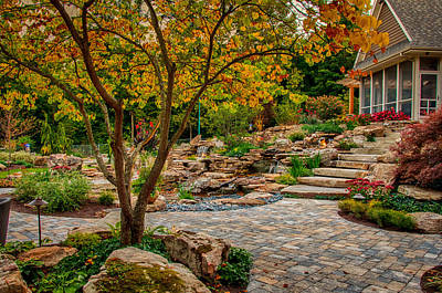 Photograph - Backyard Landscape by Gene Sherrill