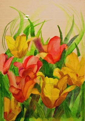 Painting - Backyard Lilies by Dina Jacobs