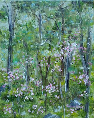 Painting - Backyard Mountain Laurel by Judith Rhue