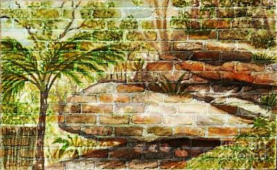 Mixed Media - Backyard Reflected On The Wall by Leanne Seymour
